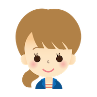 若い女性 顔 イラスト