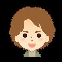 男性 顔 イラスト 茶髪