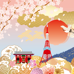 東京 桜 東京タワー