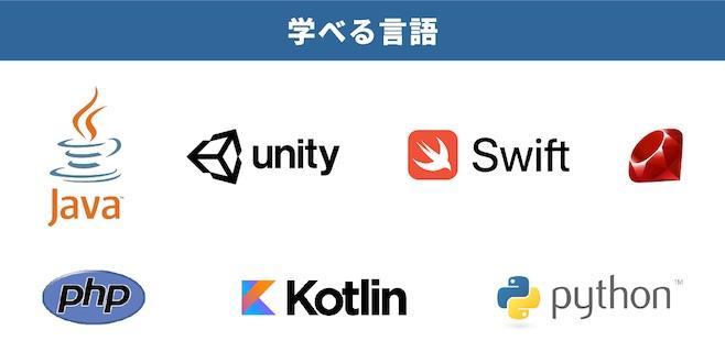 java python swift unity kotlin php ruby