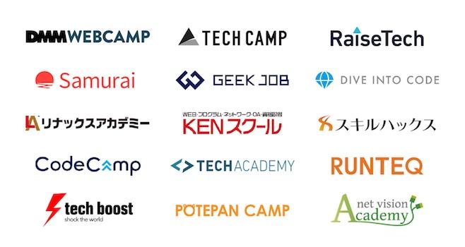 プログラミングスクール ロゴ 一覧