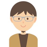 男性 メガネ 顔アイコン