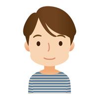 若い男性 顔アイコン