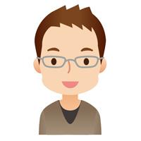 若い男性 顔アイコン メガネ