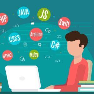 プログラミング パソコン 男性 PHP JS JAVA Swift C#